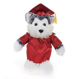 Soft Plush Husky in Graduation Cap & Gown Stuffed Animal