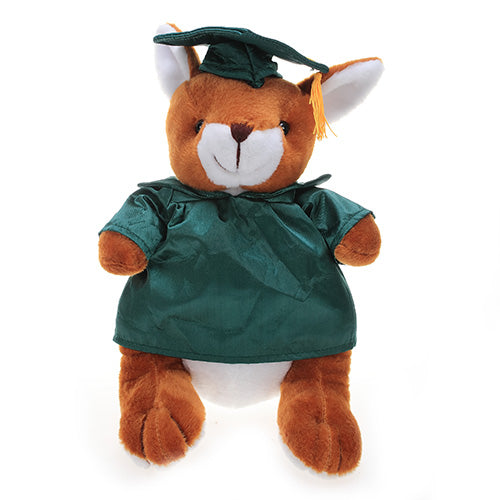 Soft Plush Kangaroo with Graduation Cap and Gown