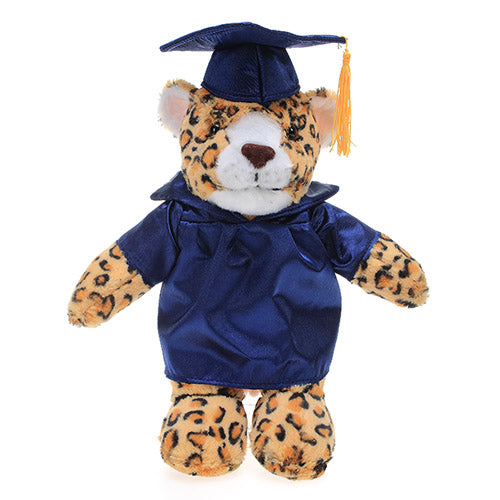 Soft Plush Leopard in Graduation Cap & Gown Stuffed Animal