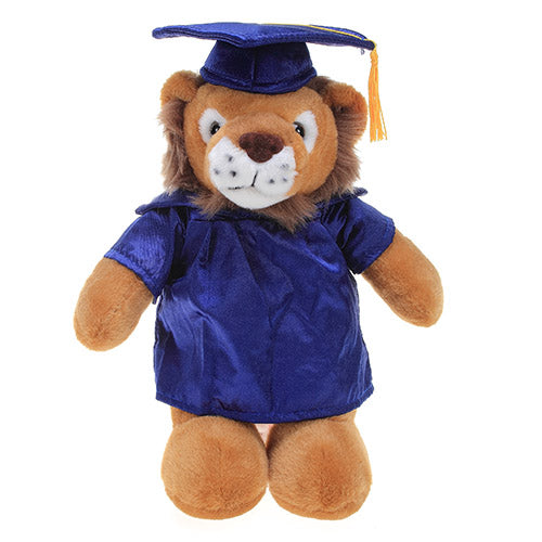 Soft Plush Lion in Graduation Cap & Gown Stuffed Animal