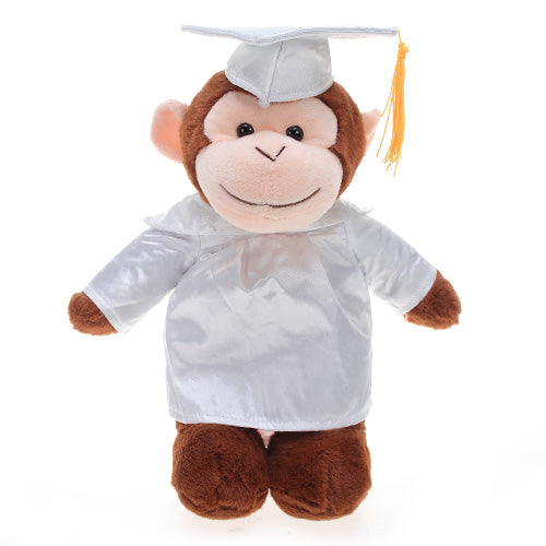 Soft Plush Monkey in Graduation Cap & Gown Stuffed Animal