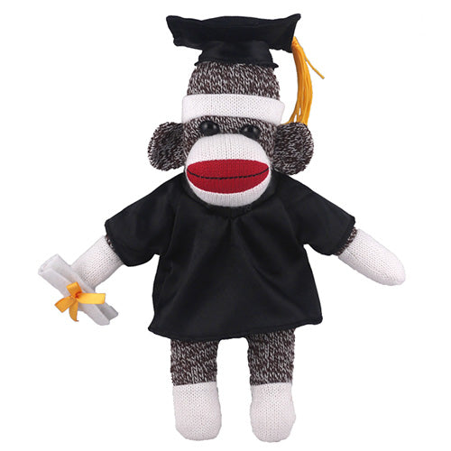 Original Sock Monkey (Plush) in Graduation Cap & Gown