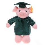 Soft Plush Pig forest green