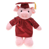 Soft Plush Pig in Graduation Cap & Gown Stuffed Animal