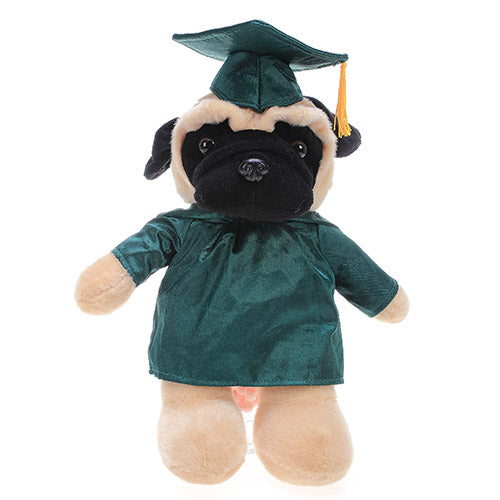 Soft Plush Pug in Graduation Cap & Gown Stuffed Animal