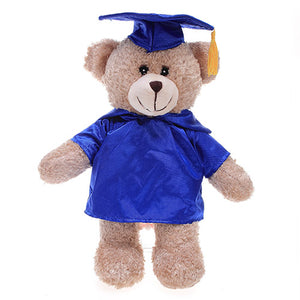 Soft Plush Tan Teddy Bear with Graduation Cap and Gown