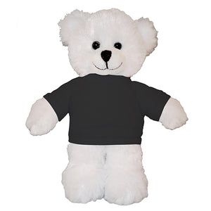 Soft Plush White Teddy Bear with Tee