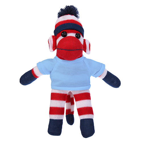 Soft Plush Patriotic Sock Monkey with Tee