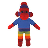 Soft Plush Rainbow Sock Monkey with Tee