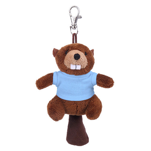 Soft Plush Beaver Keychain with Tee