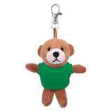 Soft Plush Brown Teddy Bear Keychain with Tee