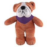 Soft Plush Stuffed Bulldog with Bandana