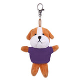 Soft Plush Bulldog Keychain with Tee