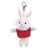 Soft Plush Bunny Keychain with Tee