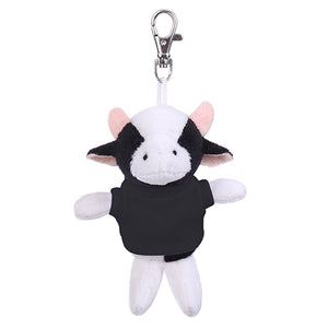 Soft Plush Cow Keychain with Tee