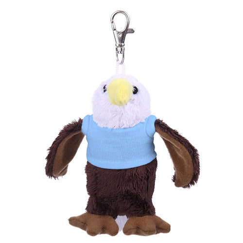 Soft Plush Eagle Keychain with Tee