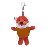 Soft Plush Fox Keychain with Tee