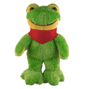 Soft Plush Stuffed Frog with Bandana