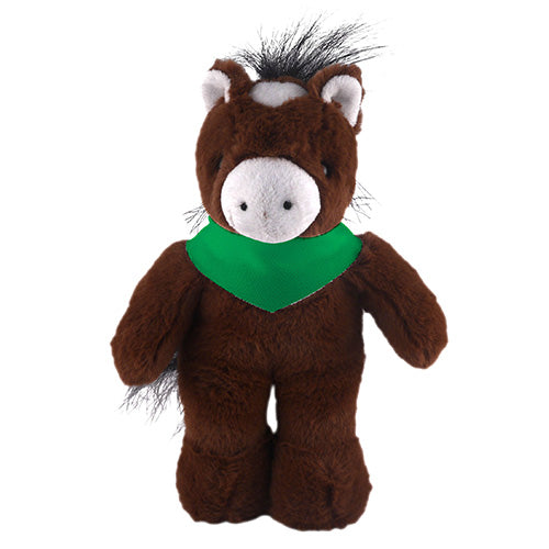 Soft Plush Stuffed Horse with Bandana