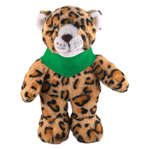 Soft Plush Stuffed Leopard with Bandana