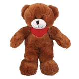 Soft Plush Stuffed Mocha Teddy Bear with Bandana