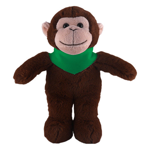 Soft Plush Stuffed Monkey with Bandana