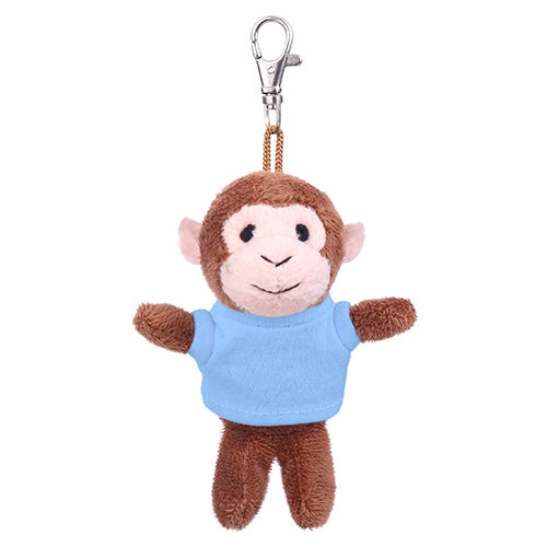 Soft Plush Monkey Keychain with Tee