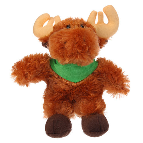 Soft Plush Stuffed Moose with Bandana