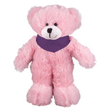 Soft Plush Stuffed Pink Teddy Bear with Bandana