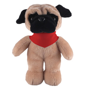 Soft Plush Stuffed Pug with Bandana