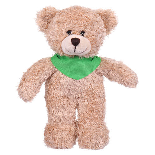 Soft Plush Tan Teddy Bear with Bandana