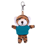 Soft Plush Tiger Keychain with Tee