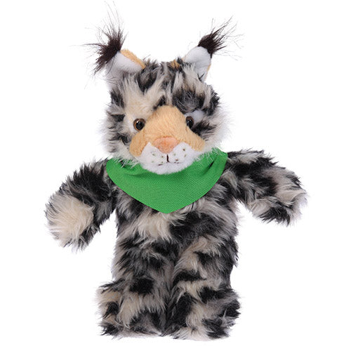 Soft Plush Stuffed Wild Cat (Lynx) with Bandana