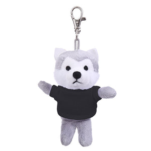 Soft Plush Wolf Keychain with Tee