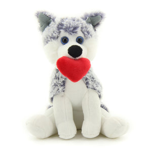 "Husky PawPal 8"" with heart"