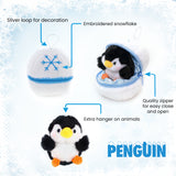 Holiday Zippy Zip Up Snowball Animals-Penguin