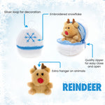 Holiday Zippy Zip Up Snowball Animals-reindeer