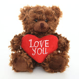 Valentine Sitting Bear -- Chocolate 6""