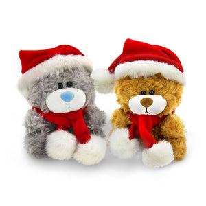 Christmas Qbeba Bear Brown and Gray