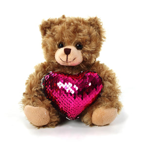 Mocha bear Shiny Heart Reversible Pink heart