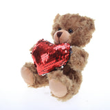 Mocha bear Shiny Heart Reversible Red heart