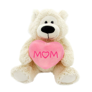 Sophie 12 Bear with pink heart Mom