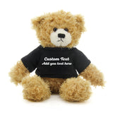Black Brandon Beige Teddy Bear