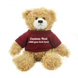 maroon dark Brandon Beige Teddy Bear