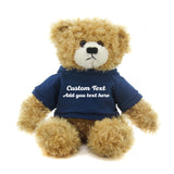 Dark blue  Brandon Beige Teddy Bear