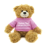 Dark pink Brandon Beige Teddy Bear