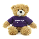 Dark purple Brandon Beige Teddy Bear