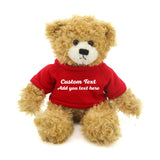 Dark red Brandon Beige Teddy Bear