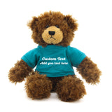 "Chocolate Brandon Bear 11"" with customizable tee"