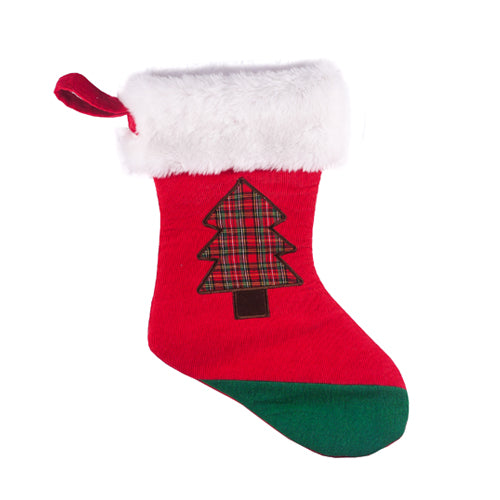 Red Christmas Corduroy Stocking 15
